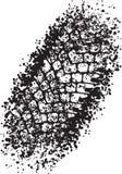 Trace de conception de traînée de vecteur du pneu dans le style grunge illustration libre de droits