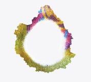 Trace de couleur d'une tasse Éclabousse et trace la peinture Images stock