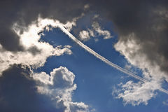 Trace de l'avion Photos stock