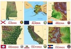 Trace des états des Etats-Unis des comtés Photos stock