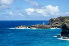 Trace des Falaises in Guadeloupe Stock Images