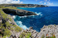 Trace des Falaises in Guadeloupe. Trou Madame Coco, Trace des Falaises - Cliff Trail, Guadeloupe, France royalty free stock photos