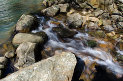 Trace the descent of the river Royalty Free Stock Photo