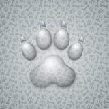 Trace Dog in Form von Tröpfchen-Wasser Lizenzfreies Stockfoto