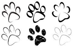 Trace of dogs set Royalty Free Stock Images