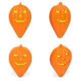 Trace el indicador como sistema anaranjado de la calabaza de Halloween de marcadores creativos Fotografía de archivo libre de regalías