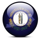 Trace en el botón de la bandera del estado de los E.E.U.U. Kentucky Fotos de archivo