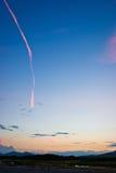 trace för 2 sky Fotografering för Bildbyråer