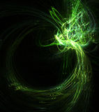 Trace Flame Green Royalty Free Stock Photo