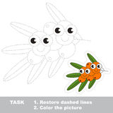 Trace game for Buckthorn. Stock Photos
