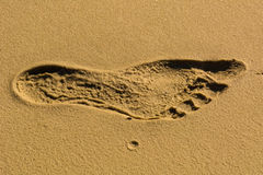 Trace of human foot Royalty Free Stock Images