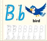 Trace the letter B. Illustration vector illustration