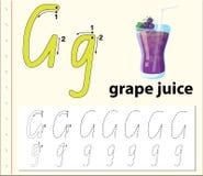 Trace the letter G. Illustration royalty free illustration