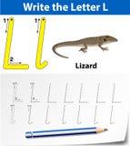 Trace the letter L. Illustration vector illustration
