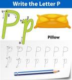 Trace the letter P. Illustration vector illustration