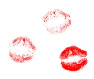 Trace of the lipstick Royalty Free Stock Photography