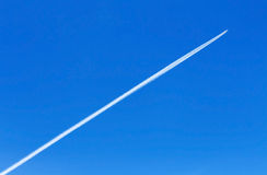 Trace Of An Airplane Royalty Free Stock Photography