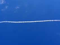 Trace of the plane Royalty Free Stock Photography