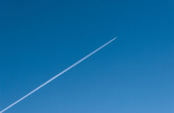 The trace of the plane Stock Photography