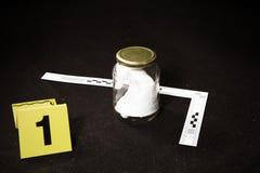Trace rassemblée d'odeur sur la scène du crime dans le tronc de voiture Image stock