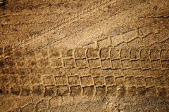 Trace in the sand royalty free stock photo