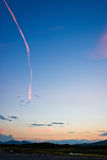 Trace in the sky 2 Stock Image