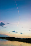 Trace in the sky 3 Stock Photography