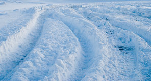 Trace on snow Royalty Free Stock Photos