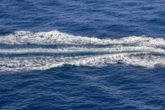 Trace of Speed boats Royalty Free Stock Photo