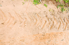 The trace of a tyre Royalty Free Stock Photo