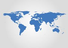 Vector World Map. Very High detail illustration. Newest 2019 version vector illustration