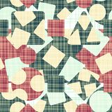 Tracery is an abstract print with geometric shapes. Royalty Free Stock Images