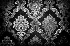 Tracery. Black and white pattern closeup with black vignetting Stock Images