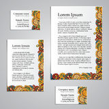 Tracery Card Business design set - natural mood Royalty Free Stock Photos