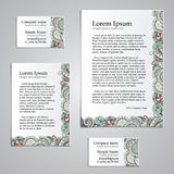 Tracery Card Business design set - natural mood Stock Photo