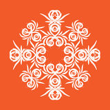 Tracery. The complex decorative pattern with floral elements Stock Photo
