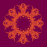 Tracery. The complex decorative pattern with floral elements royalty free illustration