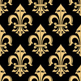 Tracery of fleur-de-lis elements seamless pattern Stock Photo