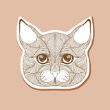 Tracery hand drawn cat in lines Royalty Free Stock Photography