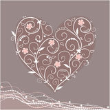 Tracery heart Royalty Free Stock Image