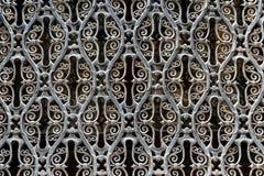 Tracery iron lattice. background old iron lattice stock photo