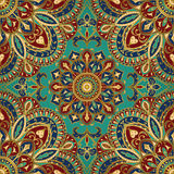 Tracery of mandalas for textile. Stock Photos