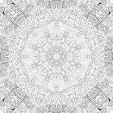 Tracery mehndi curved ornament. Ethnic motif, monochrome binary harmonious doodle texture. Black and white. Vector. Stock Photos