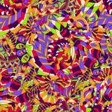 Tracery mehndi ethnic ornament. Indifferent discreet calming motif, usable doodling colorful harmonious design. Vector. Stock Photos