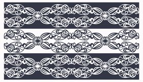 tracery pattern stripes white on black royalty free illustration