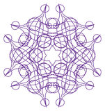 Tracery pattern - Violet six-sided tracery pattern Royalty Free Stock Photos