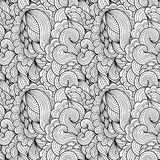 Tracery seamless wavy calming pattern. Royalty Free Stock Photo