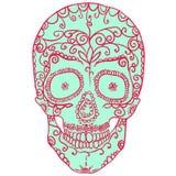 Tracery skull Stock Photo