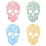 Tracery skulls. Royalty Free Stock Photo