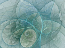 Tracery tunnel. Abstract fractal illustration of a tracery tunnel royalty free illustration